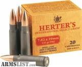 HERTER'S Ammunition 7.62X39MM
